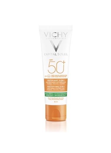 Vichy Vichy Capital Soleil Matlaştirici Yüz Güneş Kremi Spf 50+ 50 Ml Renksiz